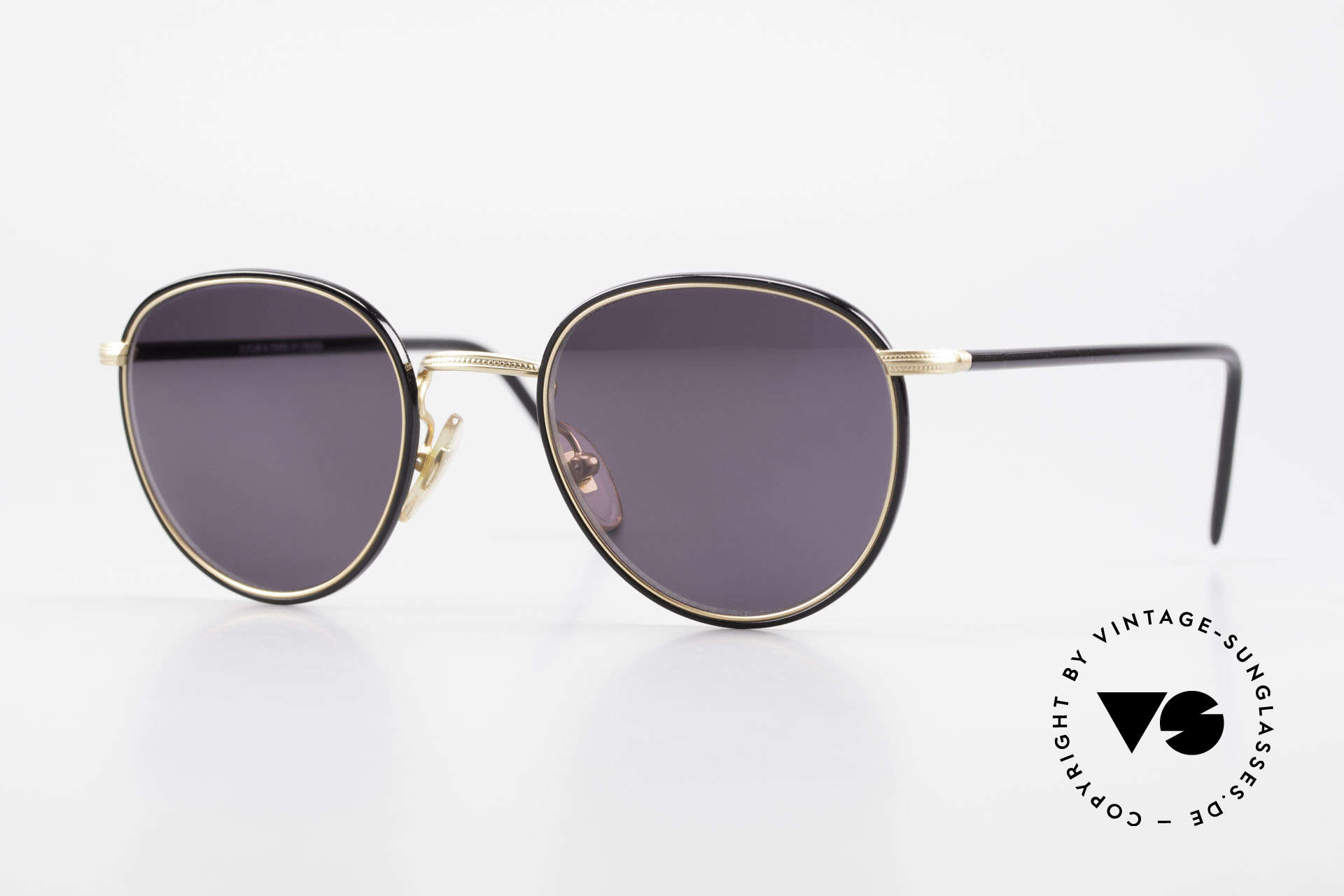 Cutler And Gross 0352 Vintage Panto Sonnenbrille, Cutler & Gross London Designerbrille der späten 90er, Passend für Herren und Damen