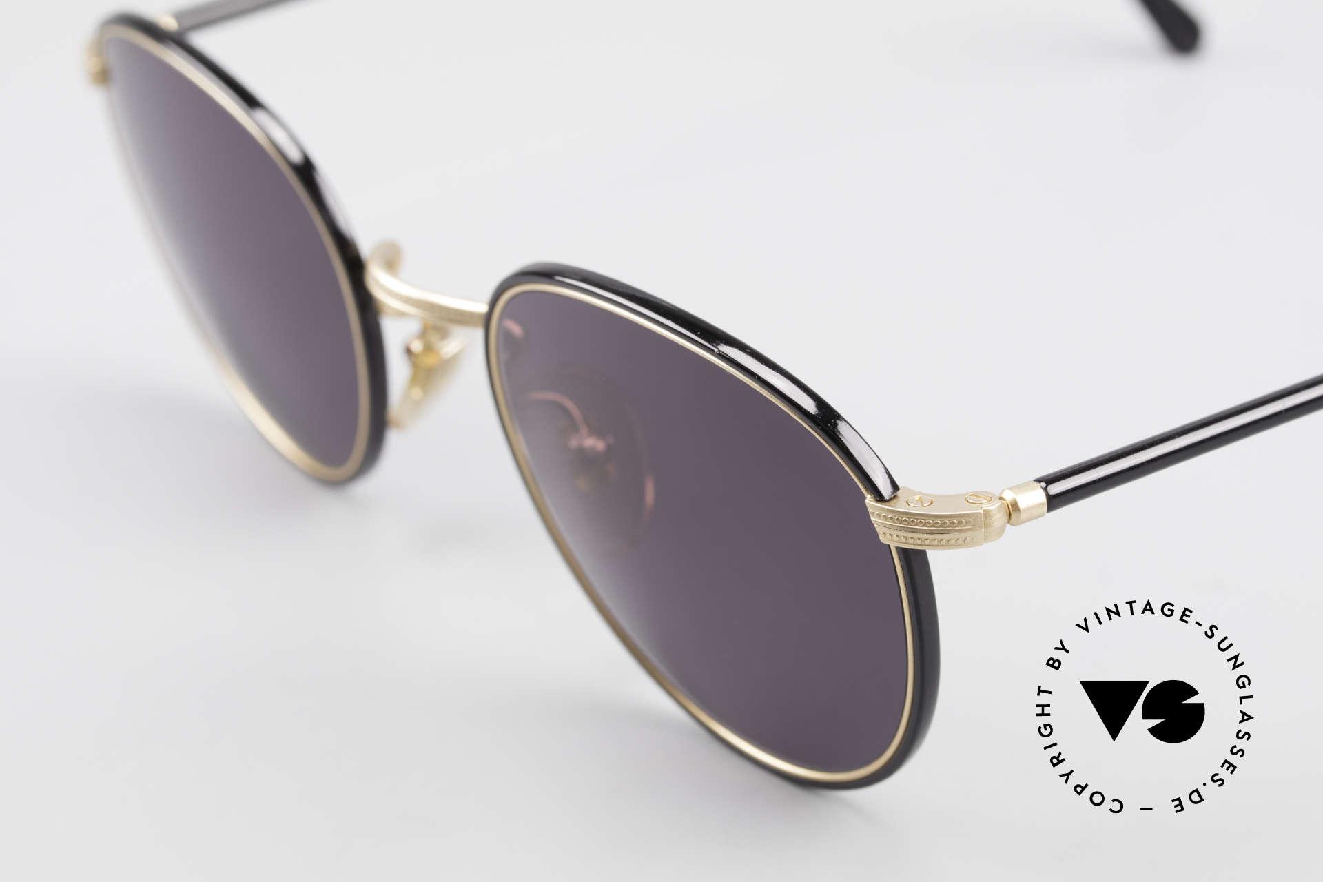 Cutler And Gross 0352 Vintage Panto Sonnenbrille, sehr elegante Kombination von Materialien und Farben, Passend für Herren und Damen