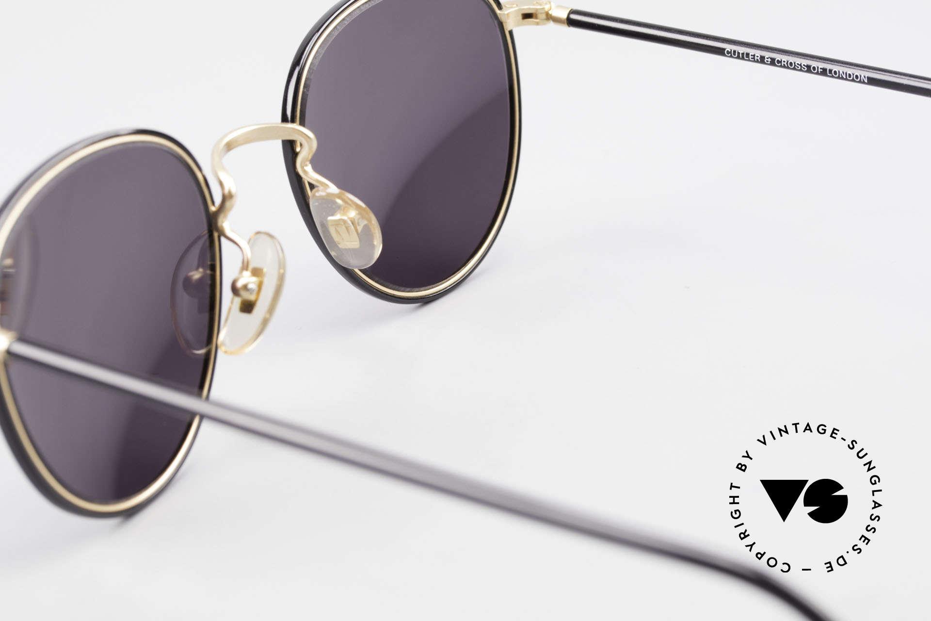 Cutler And Gross 0352 Vintage Panto Sonnenbrille, KEINE Retrobrille, sondern ein 20 Jahre altes Original!, Passend für Herren und Damen