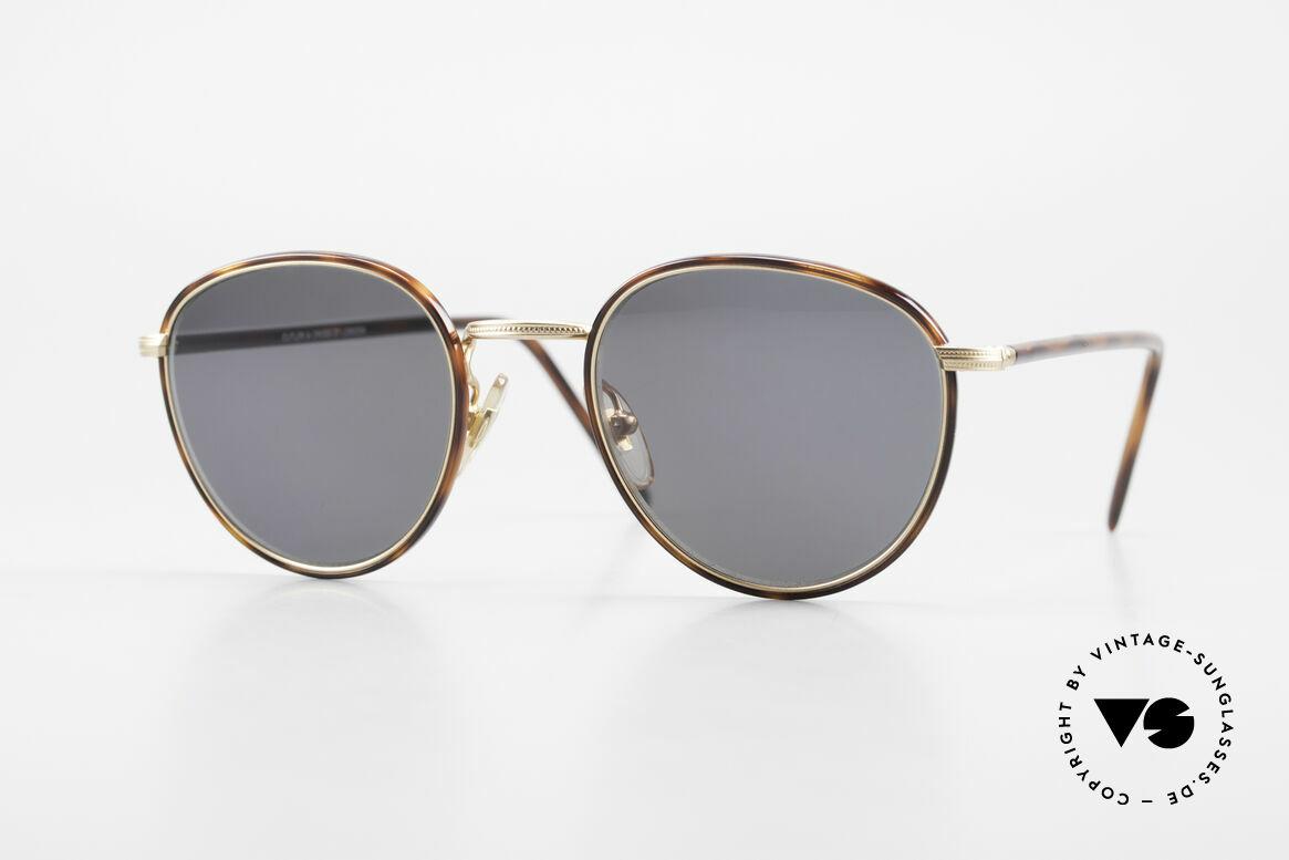 Cutler And Gross 0352 Panto Vintage Sonnenbrille, Cutler & Gross London Designerbrille der späten 90er, Passend für Herren und Damen