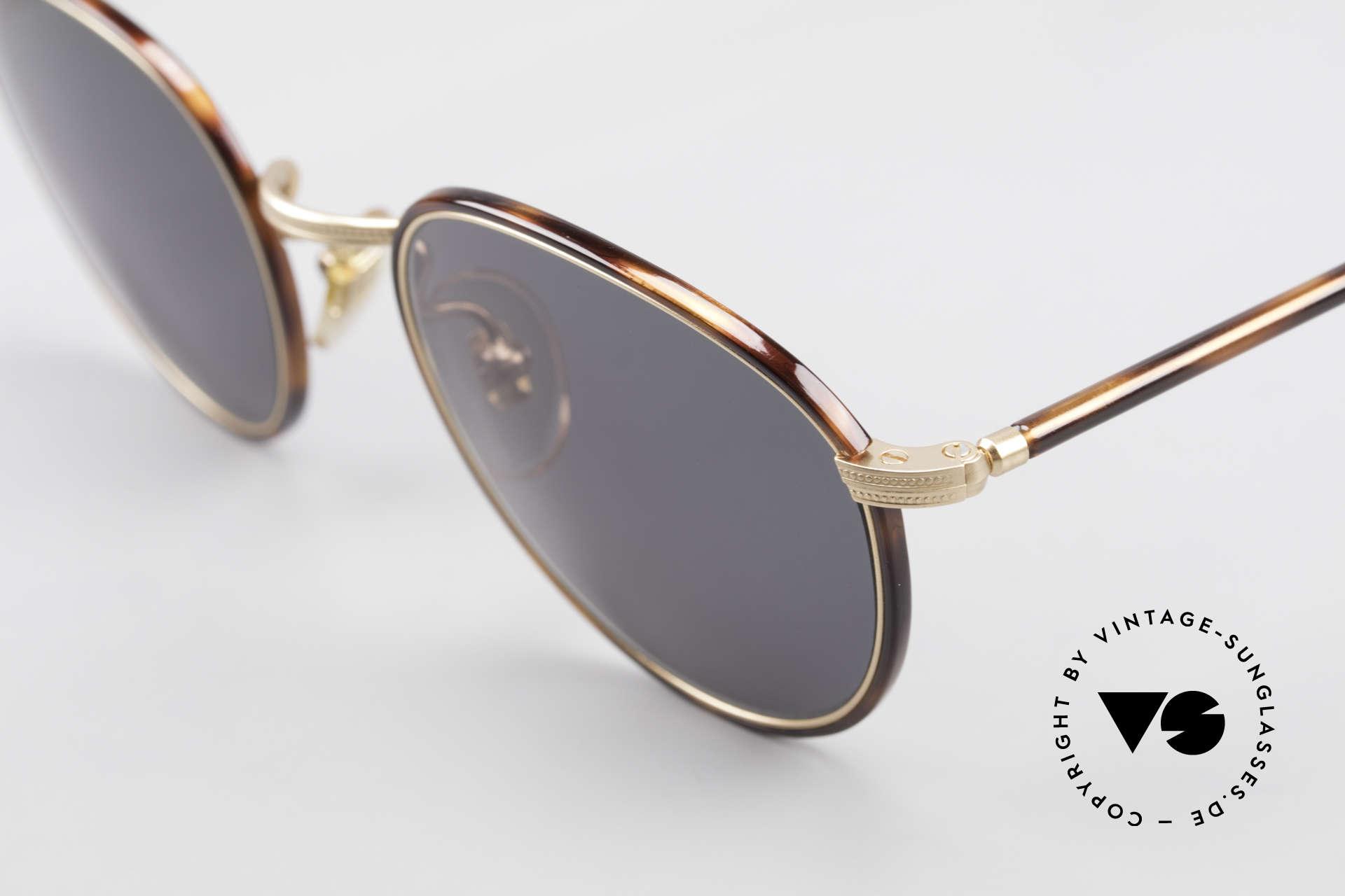Cutler And Gross 0352 Panto Vintage Sonnenbrille, sehr elegante Kombination von Materialien und Farben, Passend für Herren und Damen