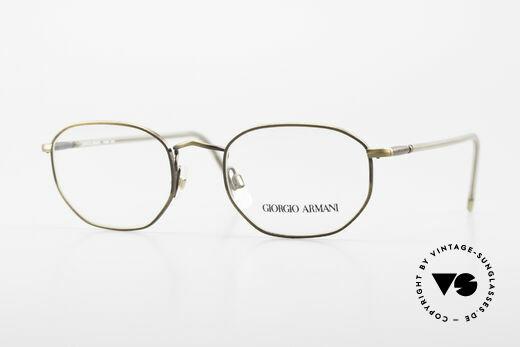 Giorgio Armani 187 Klassische Herrenbrille 90er Details