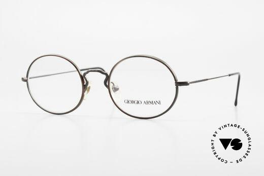 Giorgio Armani 247 Lackierung Glänzt Braun Grün Details