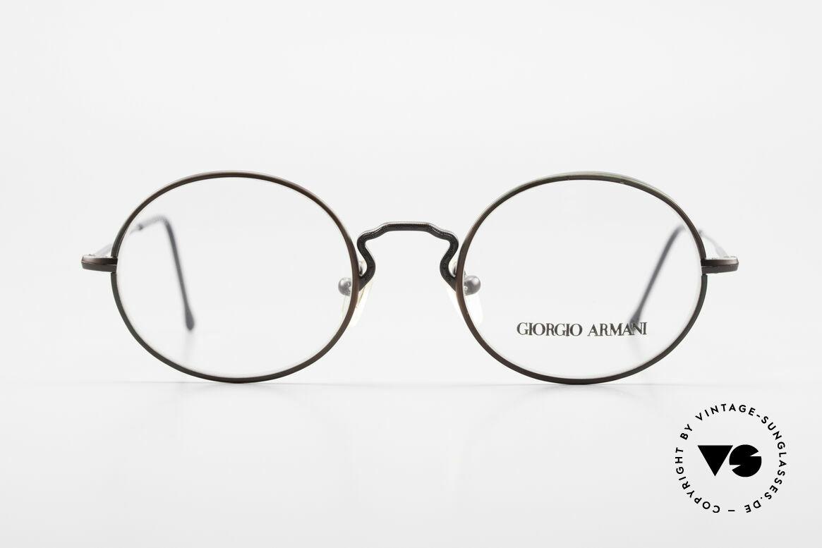 Giorgio Armani 247 Lackierung Glänzt Braun Grün, ovale Brillenform, M Gr. 49/20; zeitloser Klassiker, Passend für Herren
