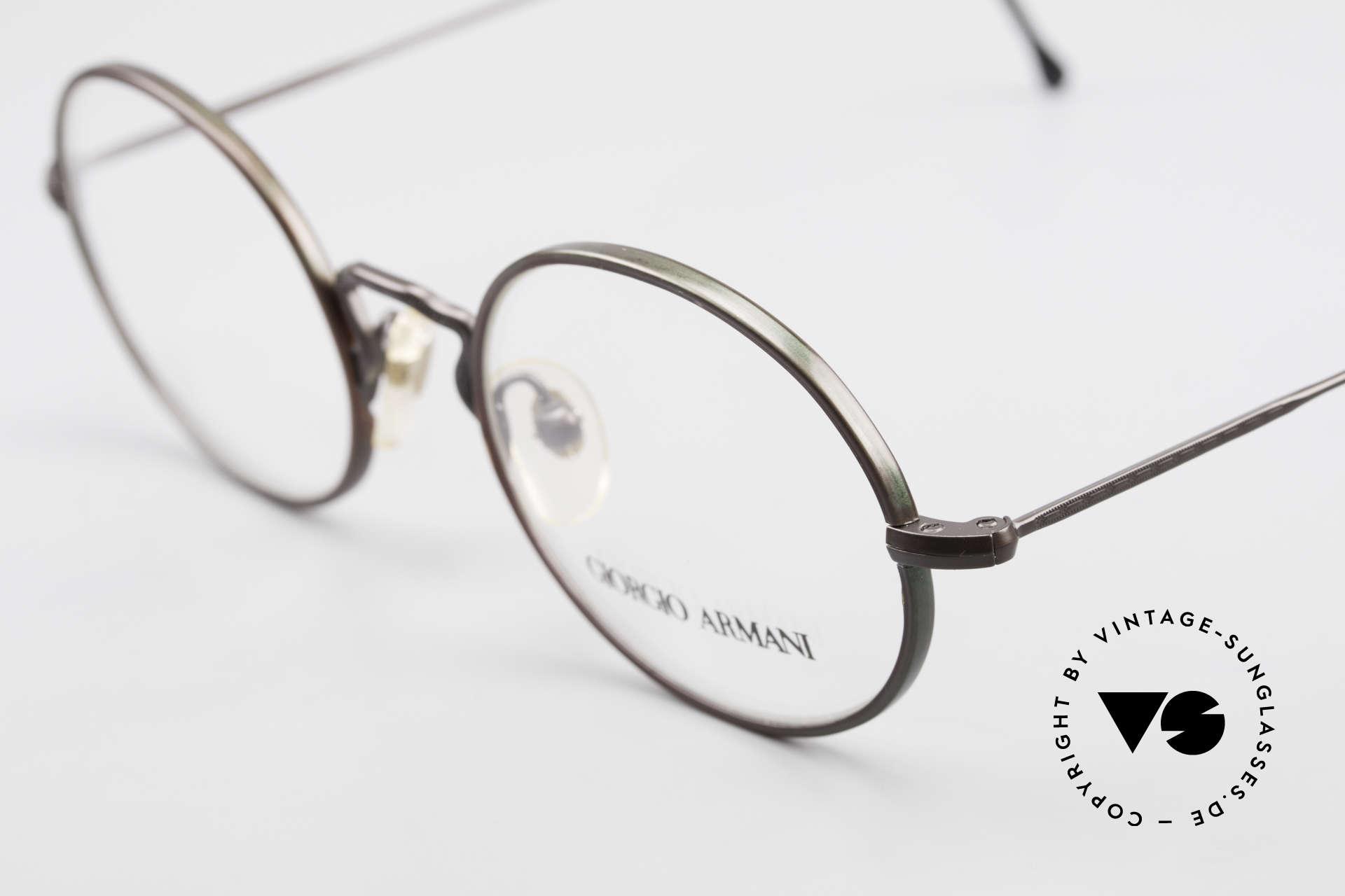 Giorgio Armani 247 Lackierung Glänzt Braun Grün, ungetragen (wie alle unsere alten vintage Brillen), Passend für Herren