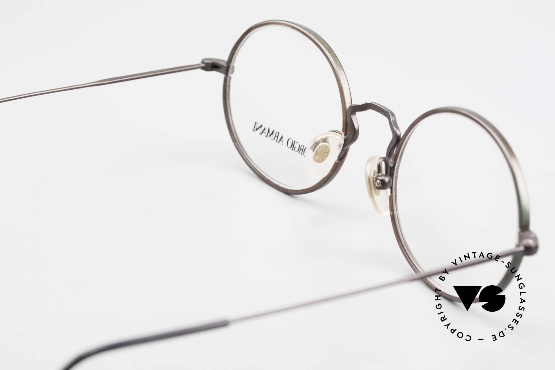 Giorgio Armani 247 Lackierung Glänzt Braun Grün, die Metall-Fassung kann beliebig verglast werden, Passend für Herren