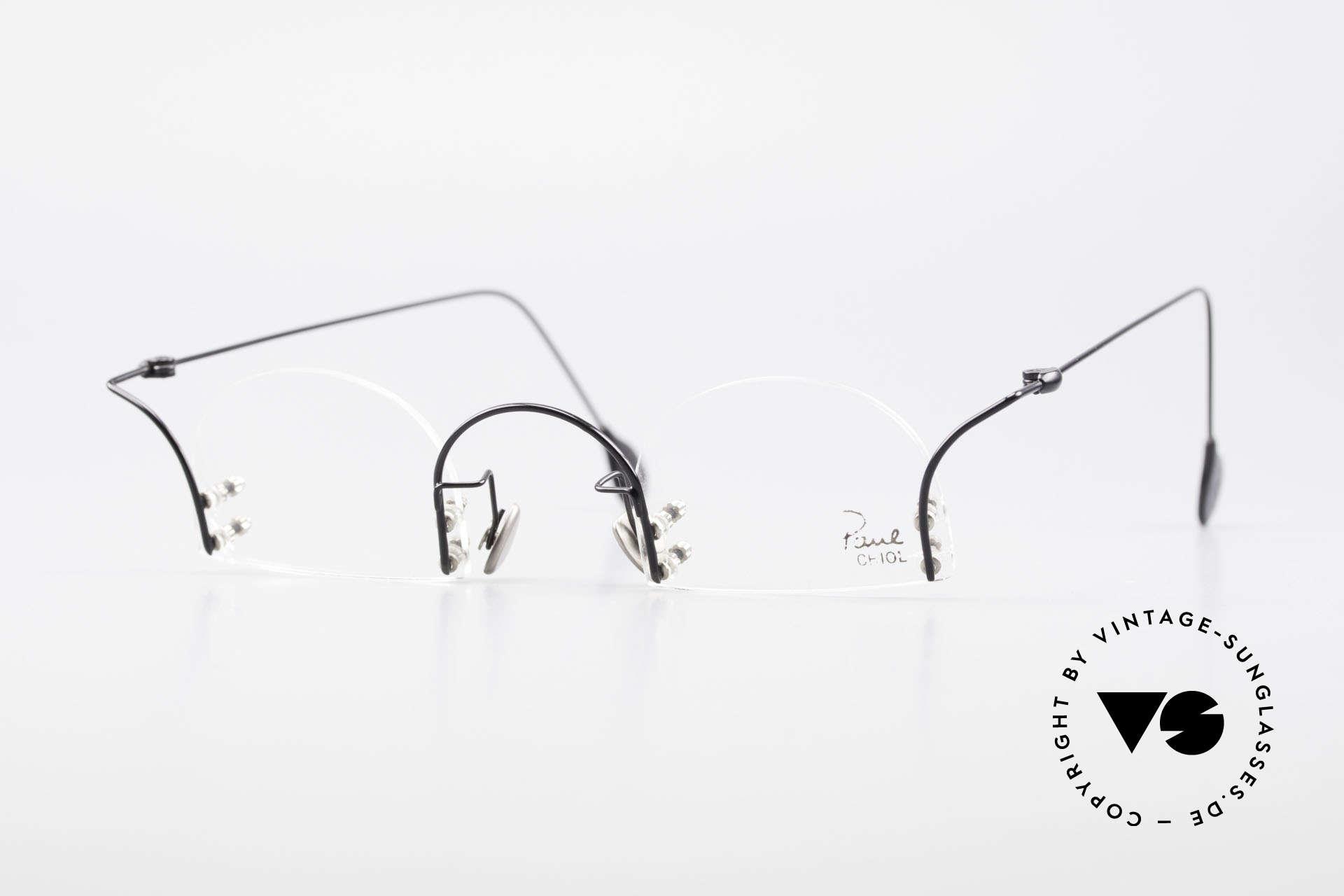 Paul Chiol 2000 Randlose Vintage Kunstbrille, vintage Paul Chiol Designer-Brillenfassung der 90er, Passend für Herren und Damen