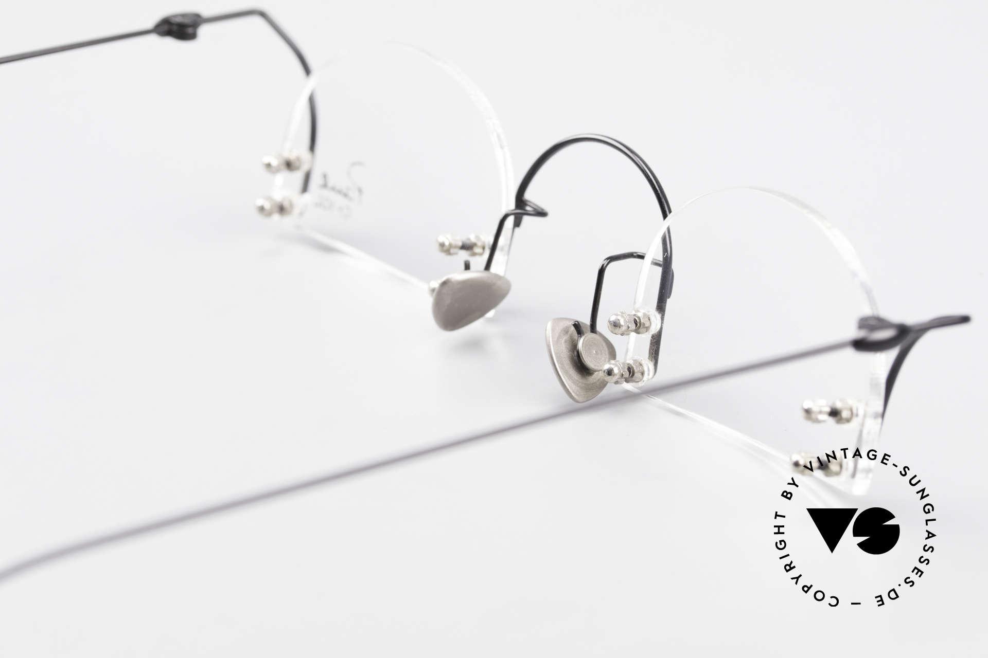 Paul Chiol 2000 Randlose Vintage Kunstbrille, Größe: small, Passend für Herren und Damen