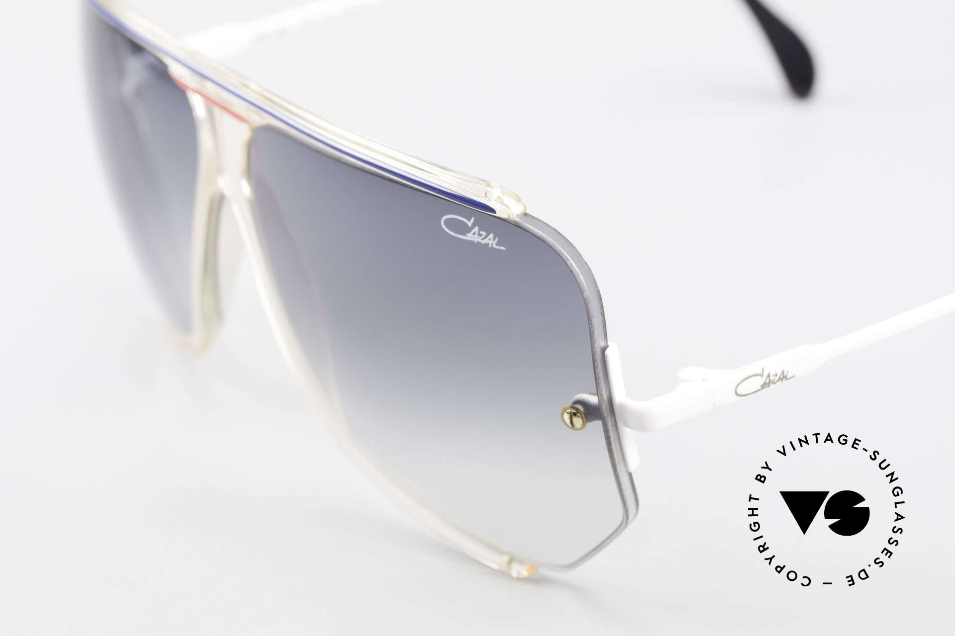 Cazal 850 Old School 80er Sonnenbrille, Cazals Modifikation der gewöhnlichen Pilotenform, Passend für Herren