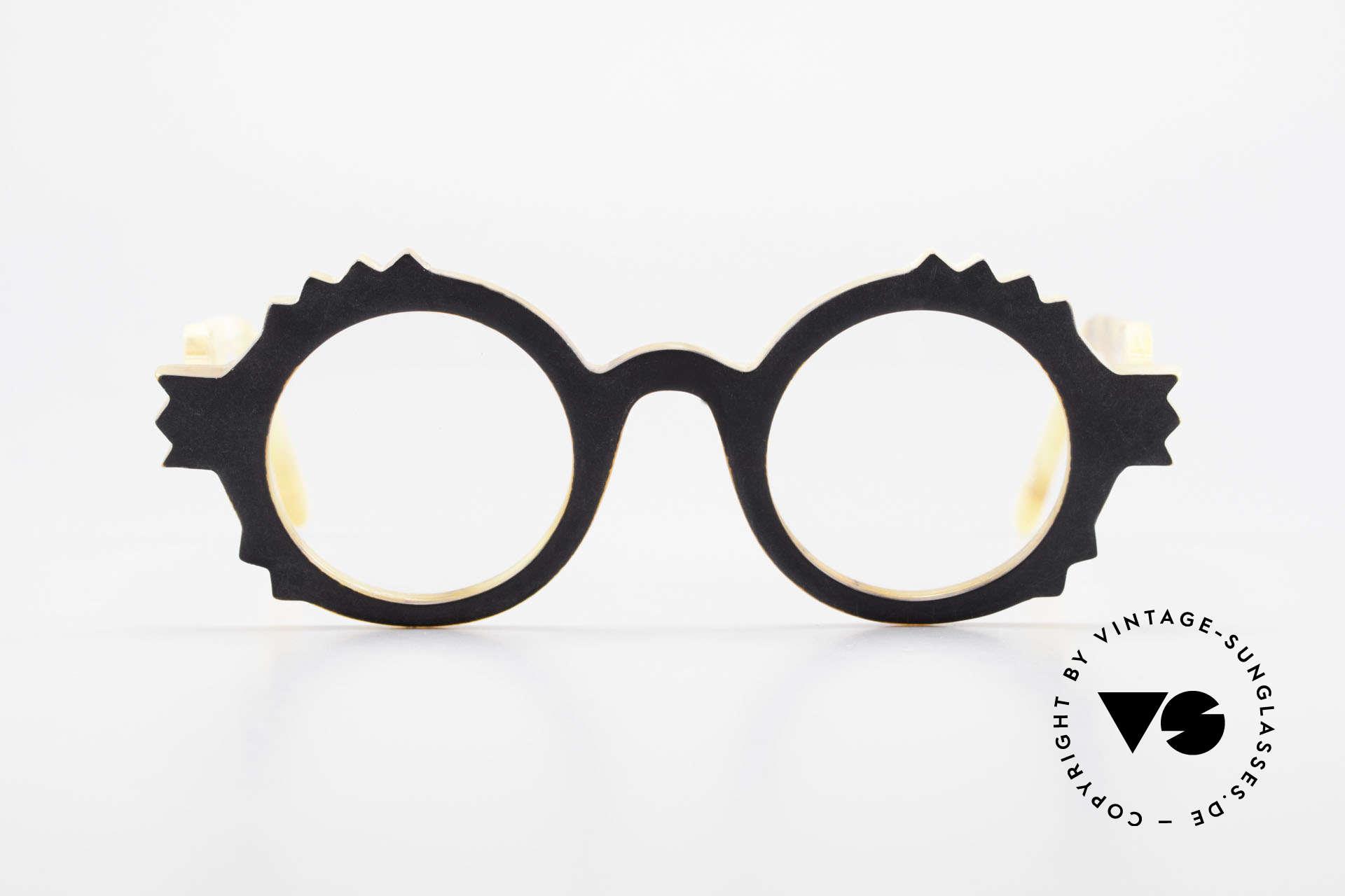 Anne Et Valentin Herrison Kunstvolle 80er Vintage Brille, das Ehepaar Anne (Künstlerin) und Valentin (Optiker), Passend für Damen