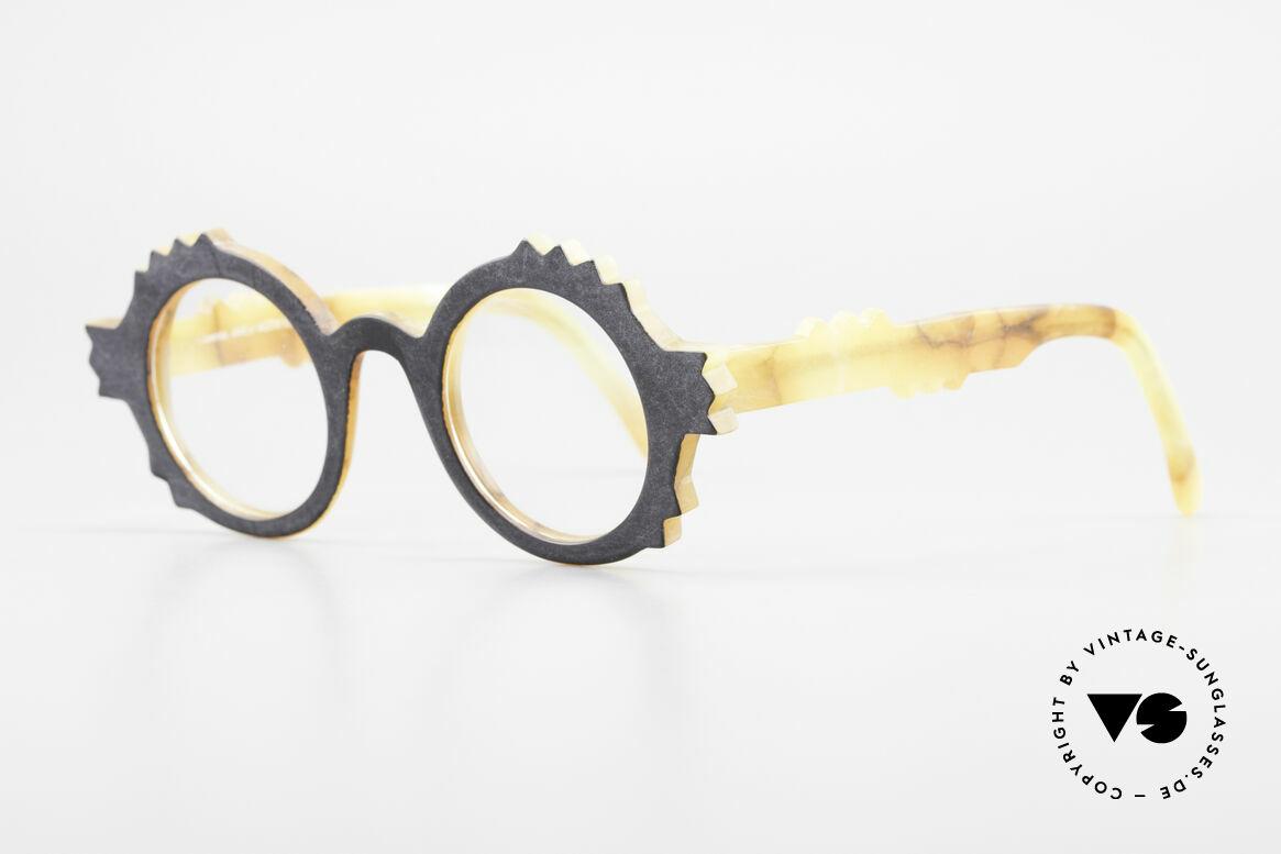 Anne Et Valentin Herrison Kunstvolle 80er Vintage Brille, kreieren und leben seit 1980 für ihre eigene Kollektion, Passend für Damen
