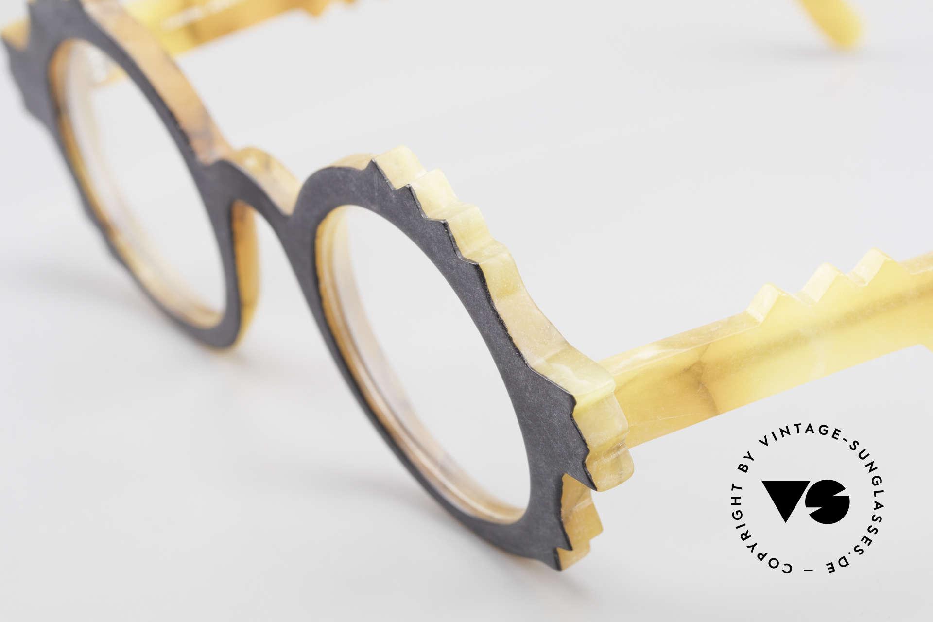 Anne Et Valentin Herrison Kunstvolle 80er Vintage Brille, dieses Modell stammt noch aus den Anfängen von A&V, Passend für Damen