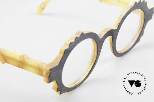 Anne Et Valentin Herrison Kunstvolle 80er Vintage Brille, ungetragenes Einzelstück aus den 80ern (mit orig. Etui), Passend für Damen