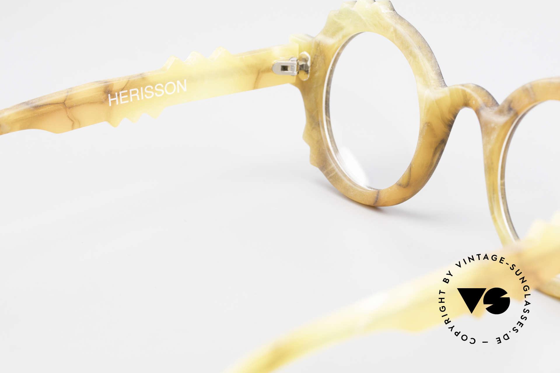 Anne Et Valentin Herrison Kunstvolle 80er Vintage Brille, Größe: small, Passend für Damen