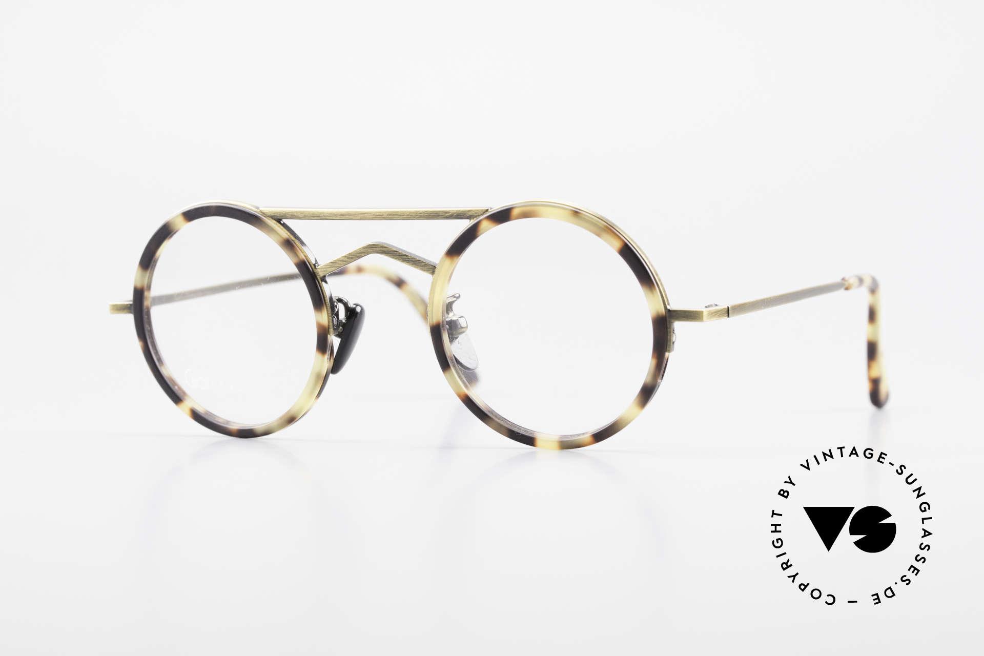 Gianni Versace 620 Runde 90er Vintage Brille, schmales und rundes vintage Versace Brillengestell, Passend für Herren und Damen
