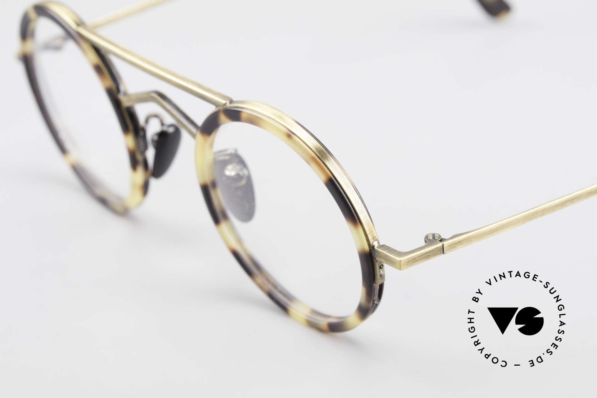 Gianni Versace 620 Runde 90er Vintage Brille, klassisch, runde Gläser in extravagantem Gewand, Passend für Herren und Damen