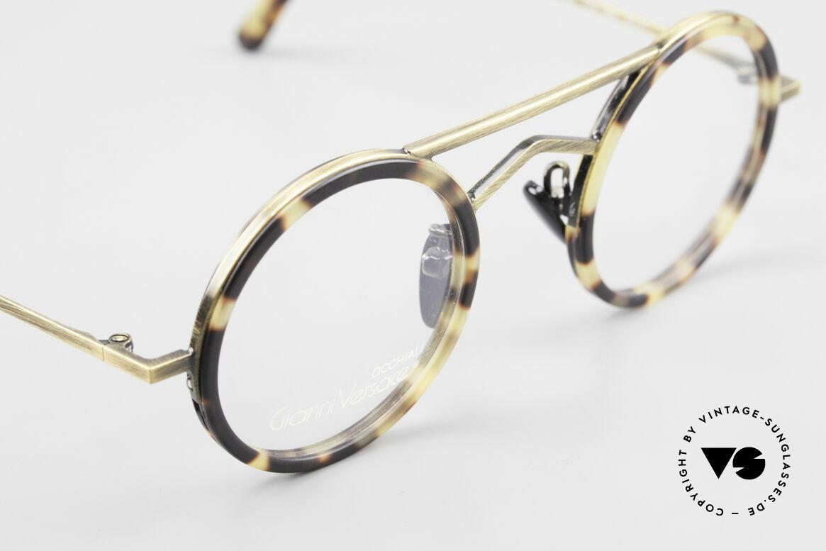 Gianni Versace 620 Runde 90er Vintage Brille, noch ungetragen (wie alle unsere VERSACE Brillen), Passend für Herren und Damen
