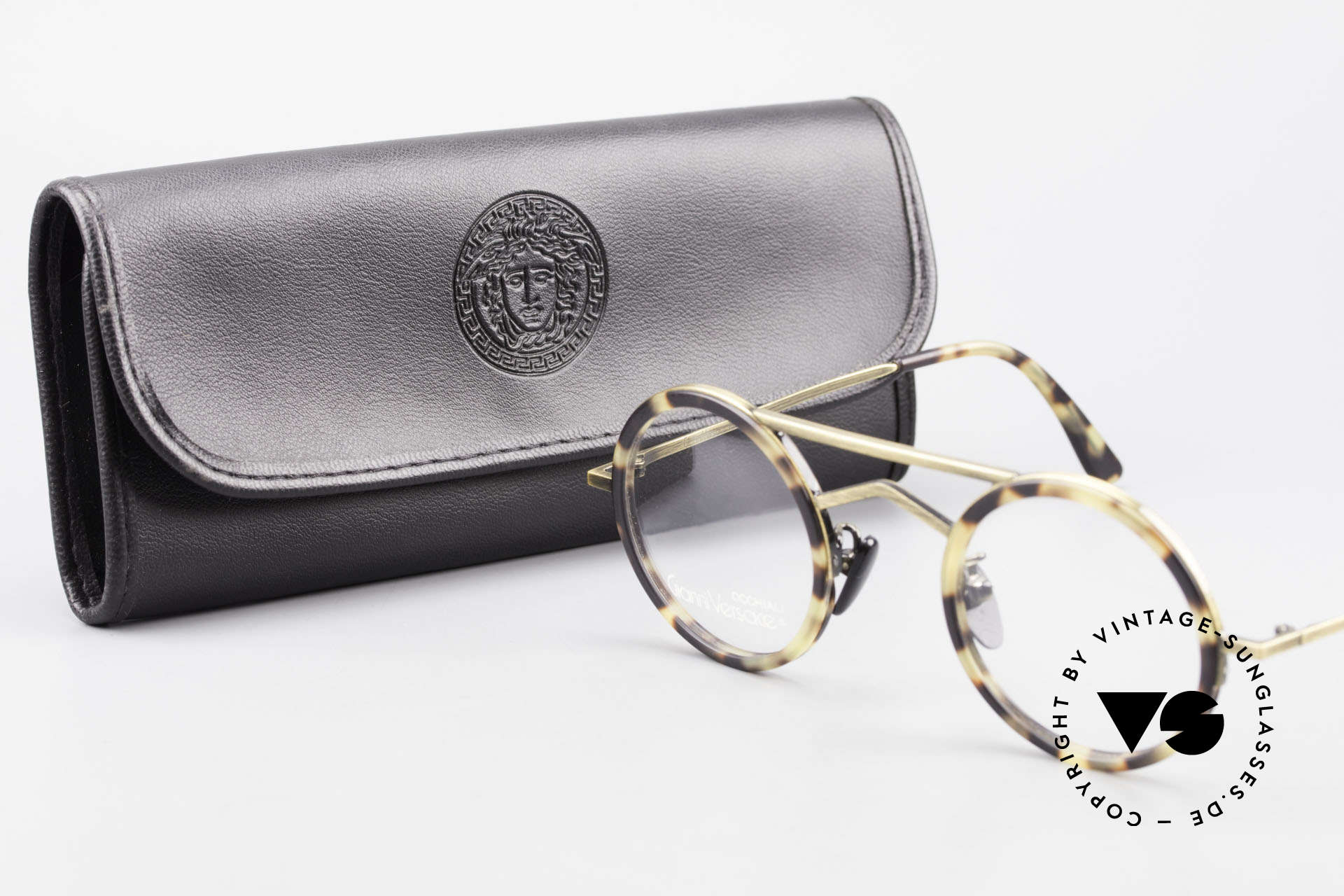 Gianni Versace 620 Runde 90er Vintage Brille, KEINE Retrobrille, sondern echt 90er Jahre Original, Passend für Herren und Damen