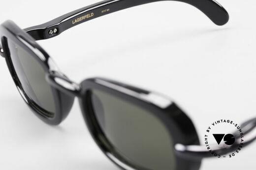 Karl Lagerfeld 4117 Rare 90er Damen Sonnenbrille, Größe: large, Passend für Damen