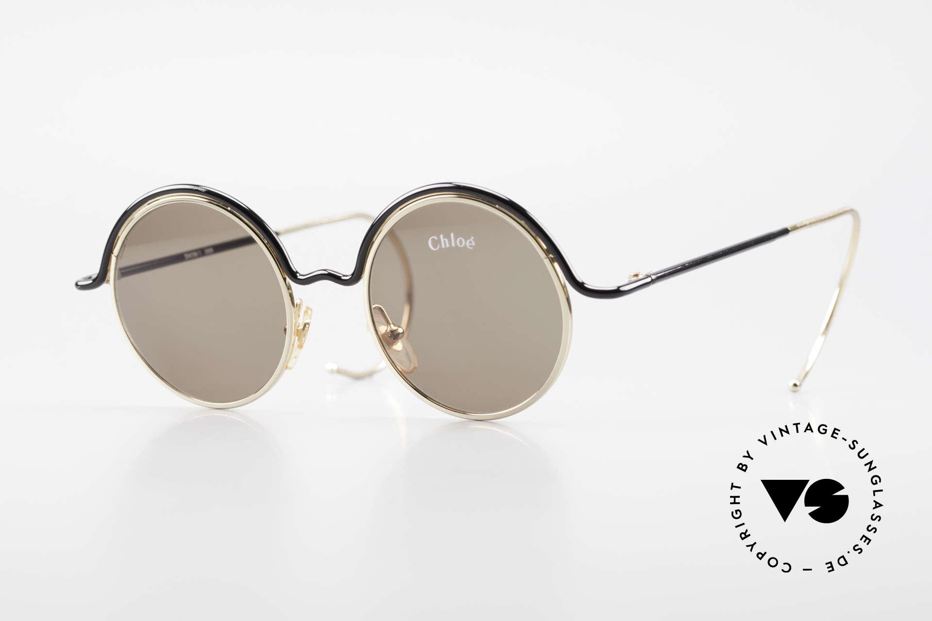 Chloe Show 1 Runde Sonnenbrille Damen, runde vintage Designersonnenbrille von CHLOE, Passend für Damen