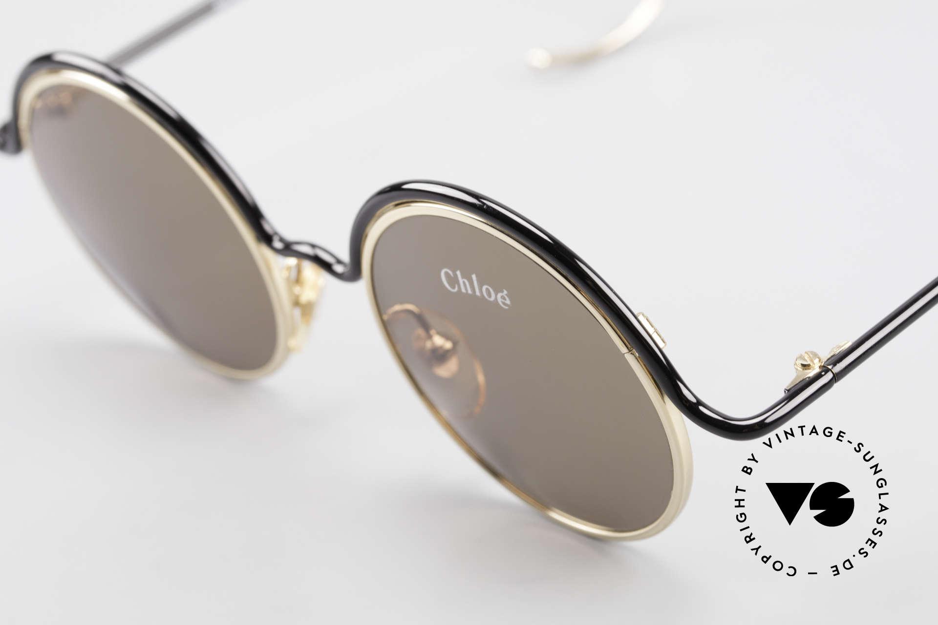 Chloe Show 1 Runde Sonnenbrille Damen, KEINE Retrobrille, sondern ein seltenes Original, Passend für Damen