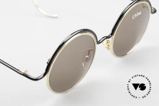 Chloe Show 1 Runde Sonnenbrille Damen, grau-braune Sonnengläser für 100% UV Protection, Passend für Damen