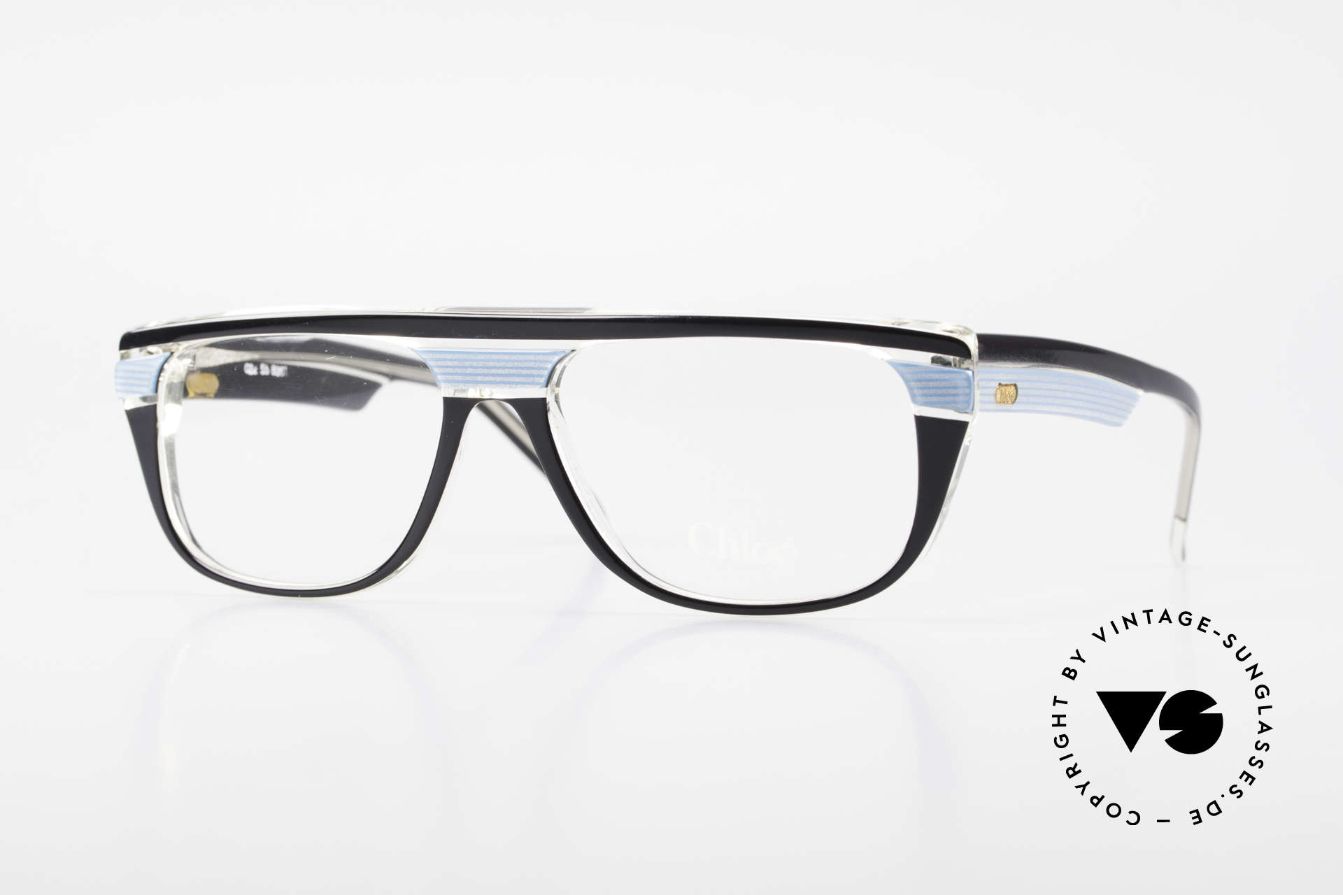 Chloe 8361 Rare Alte 80er Vintage Brille, rare vintage Designer-Brillenfassung von CHLOE, Passend für Herren und Damen