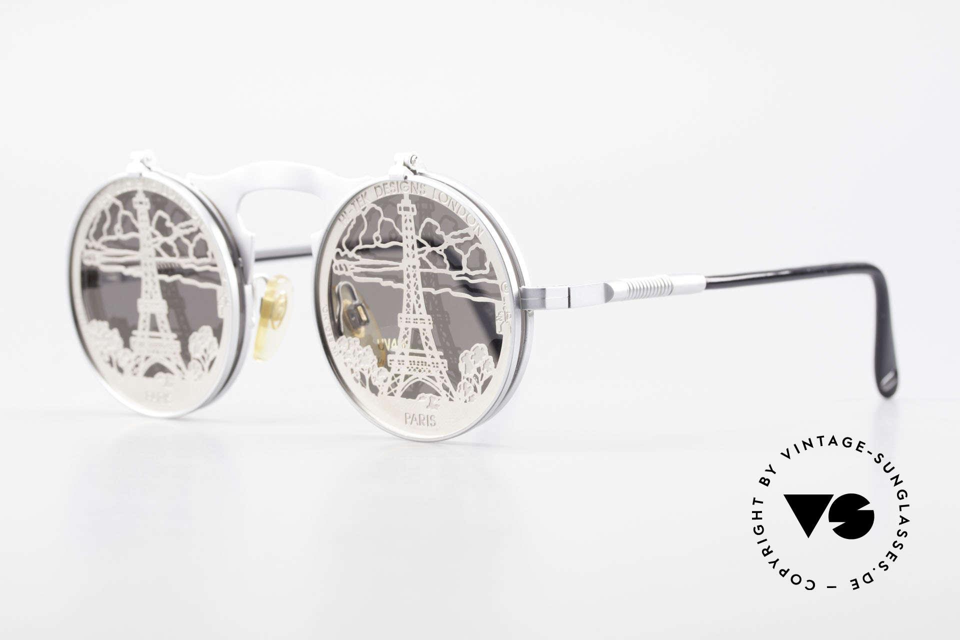 Hi Tek Paris Mit Blenden Zum Hochklappen, designed von Alexander Tasou für alle Paris-Liebhaber, Passend für Herren und Damen