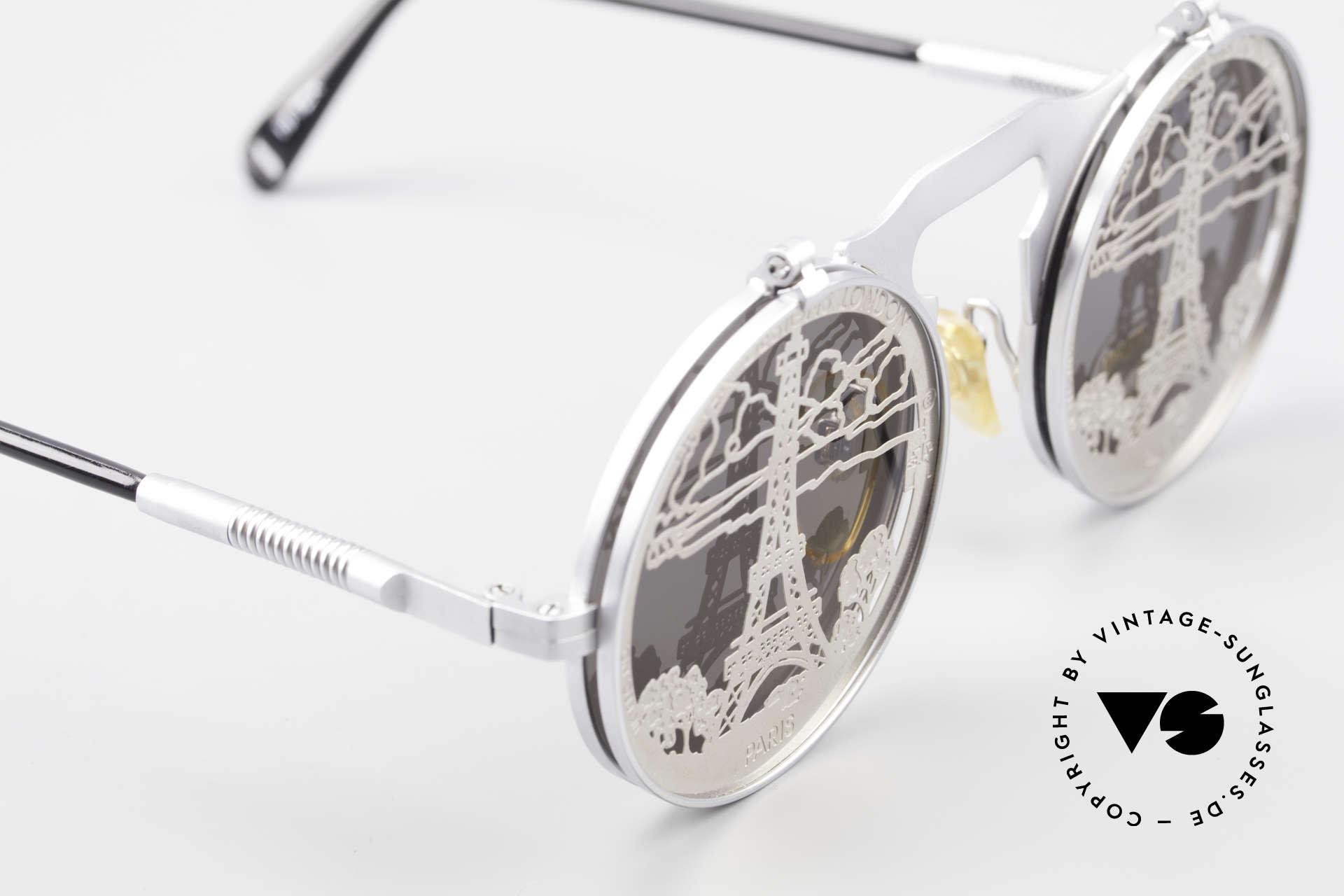 Hi Tek Paris Mit Blenden Zum Hochklappen, ungetragenen; wie alle unsere Industrial Sonnenbrillen, Passend für Herren und Damen
