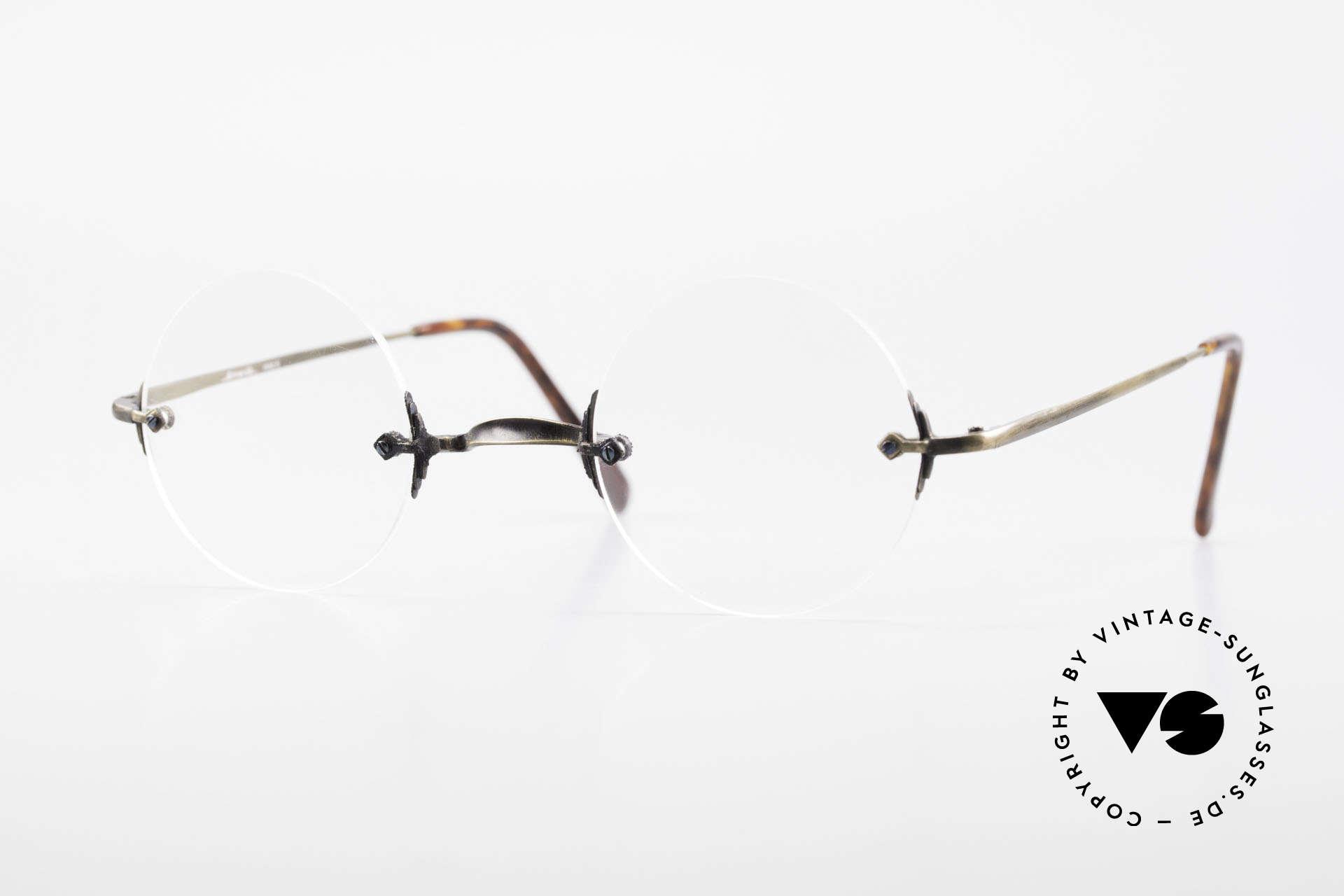 Bonneville by Brendel Schlichte Alte Randlosbrille, Bonneville by Brendel Model 6, VINTAGE Brille, Passend für Herren und Damen