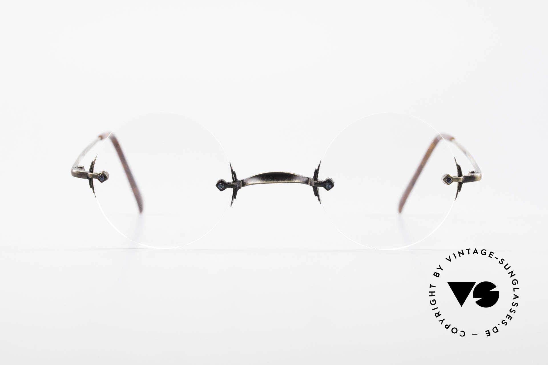 Bonneville by Brendel Schlichte Alte Randlosbrille, eine klassisch, schlichte randlose Brillenfassung, Passend für Herren und Damen