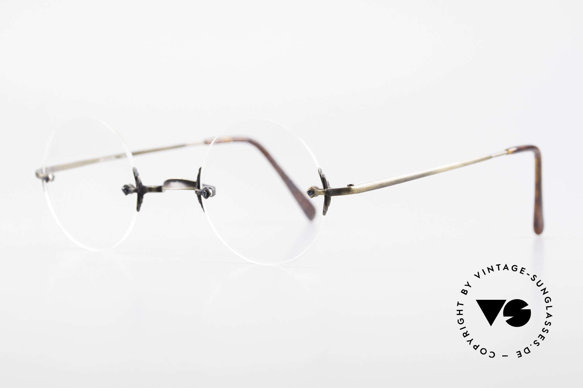 """Bonneville by Brendel Schlichte Alte Randlosbrille, elegante zeitlos koloriert: glänzt """"antik messing"""", Passend für Herren und Damen"""