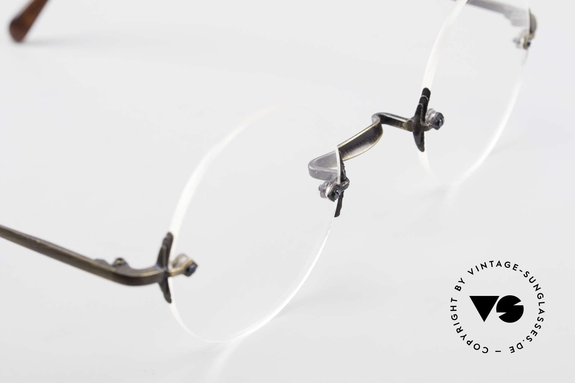 Bonneville by Brendel Schlichte Alte Randlosbrille, ungetragenes Einzelstück für Qualitätsliebhaber, Passend für Herren und Damen