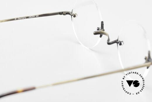 Bonneville by Brendel Schlichte Alte Randlosbrille, KEINE Retrobrille, sondern ein vintage ORIGINAL, Passend für Herren und Damen
