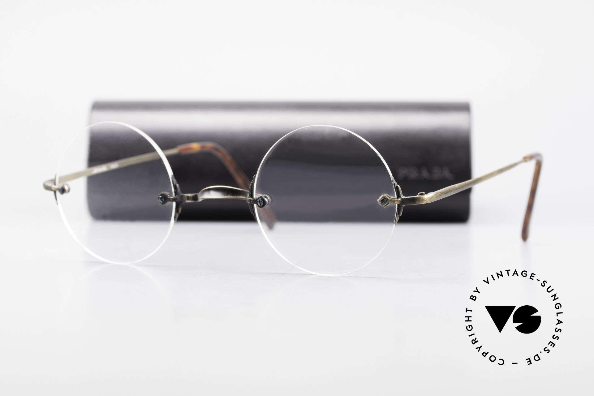 Bonneville by Brendel Schlichte Alte Randlosbrille, Größe: small, Passend für Herren und Damen