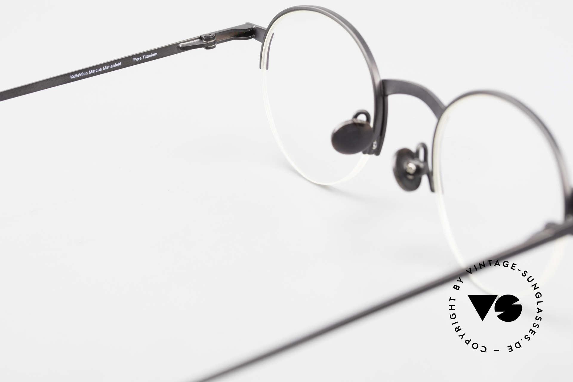 Markus Marienfeld Sina Pure Titanium Brille Handmade, KEINE Retrobrille, sondern ein vintage ORIGINAL, Passend für Herren und Damen