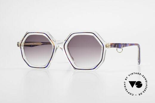 Sonia Rykiel SR46 756 Achteckige 70er Sonnenbrille Details