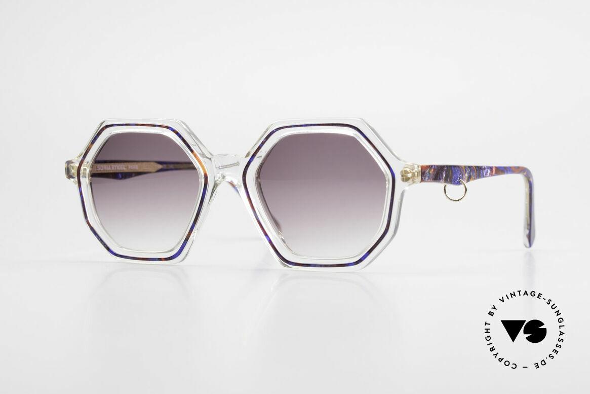 Sonia Rykiel SR756 Achteckige 70er Sonnenbrille, ackteckige Sonia Rykiel Designersonnenbrille der 70er, Passend für Damen