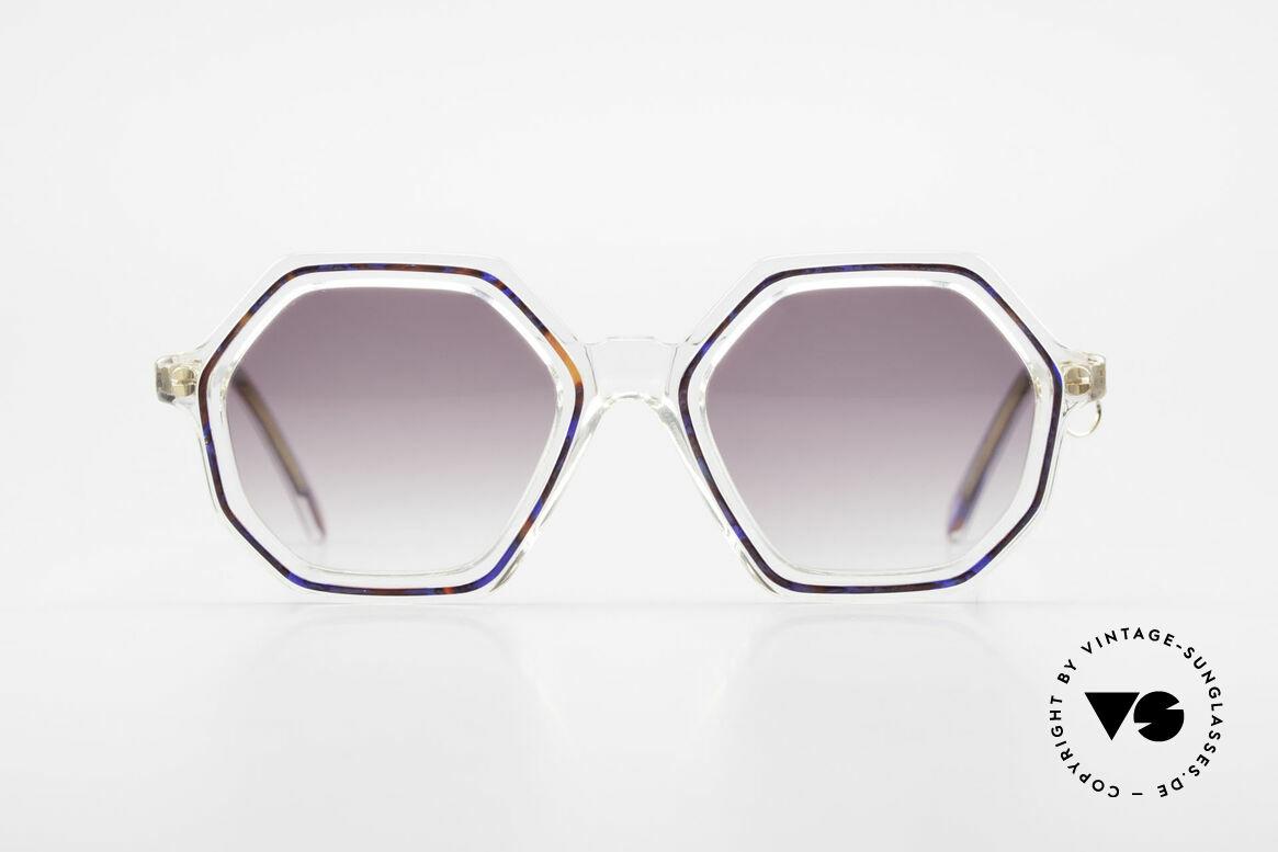 Sonia Rykiel SR756 Achteckige 70er Sonnenbrille, absolute Rarität in zauberhafter Kolorierung und Form, Passend für Damen