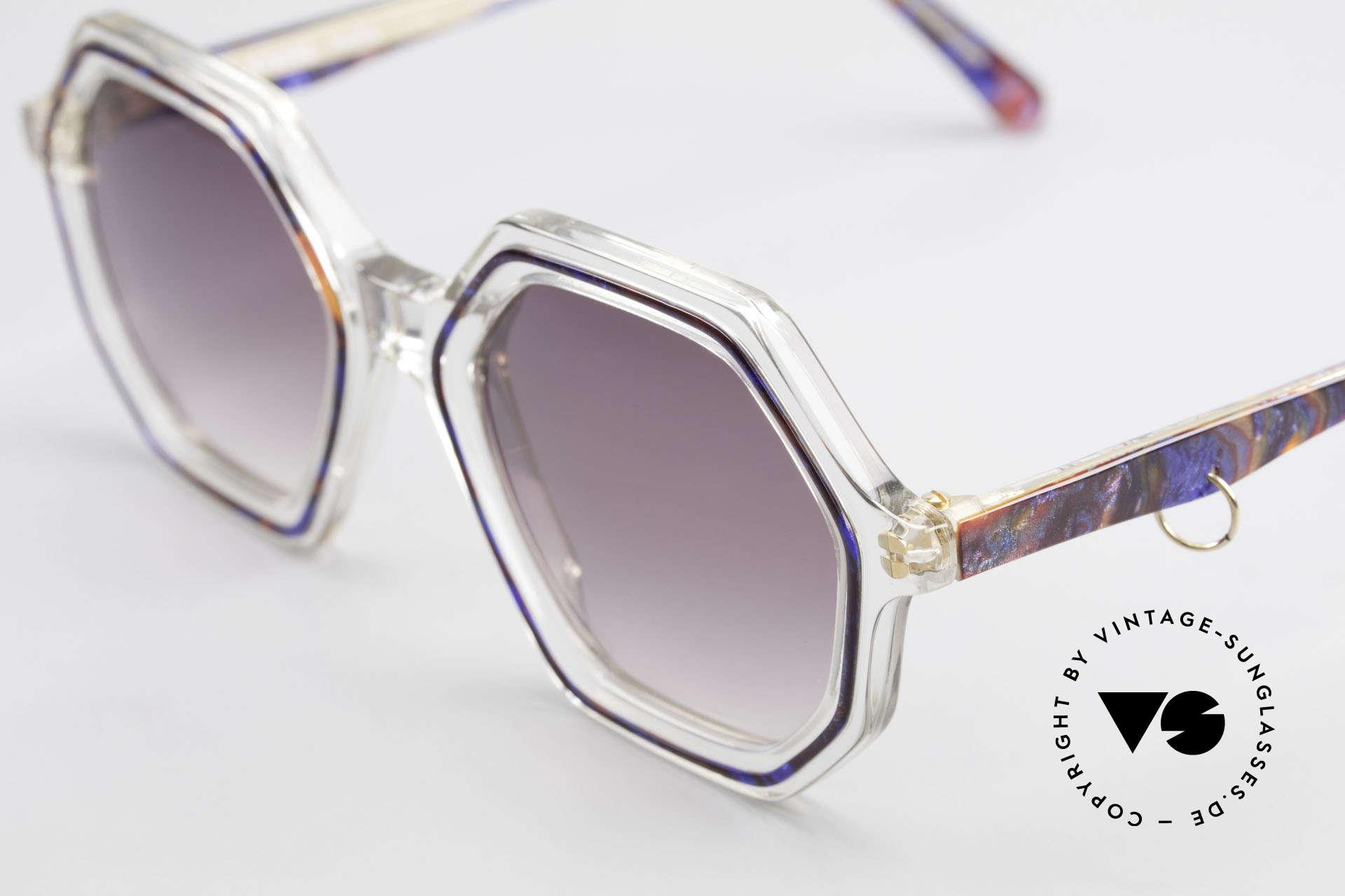Sonia Rykiel SR756 Achteckige 70er Sonnenbrille, eine echte Kostbarkeit (gehört eigentlich ins Museum), Passend für Damen