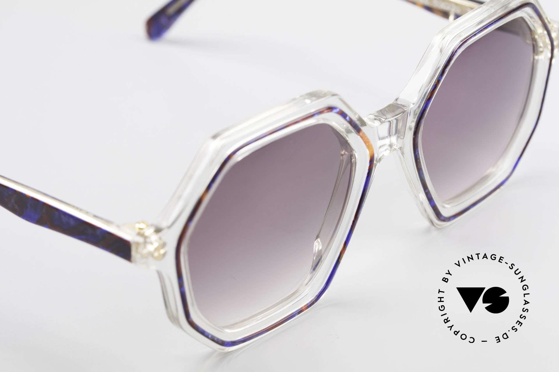 Sonia Rykiel SR756 Achteckige 70er Sonnenbrille, ungetragenes Designerstück (verkörpert Individualität), Passend für Damen