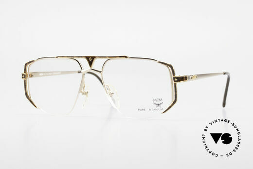 MCM München 5 Pure Titanium Brille Vergoldet Details