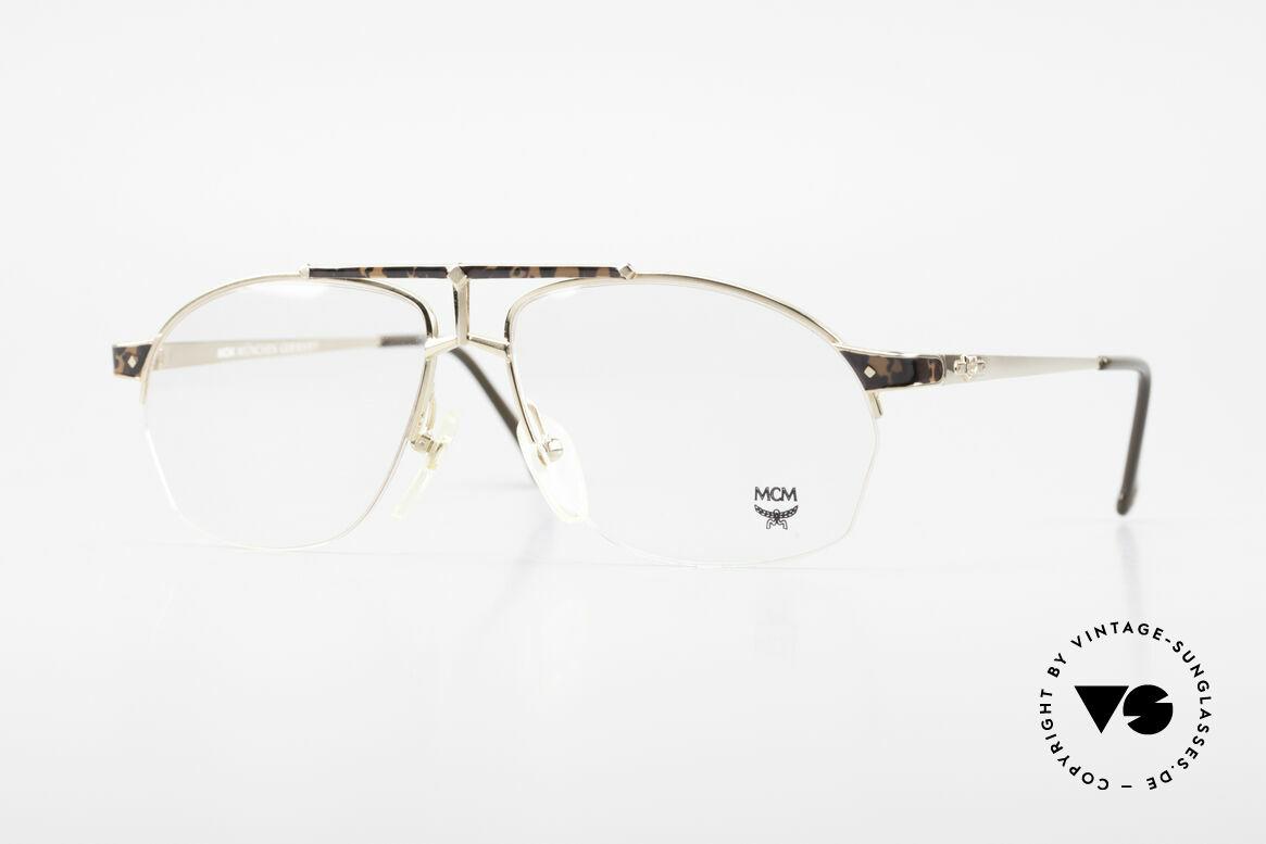 MCM München 10 Vergoldete Brille Wurzelholz, alte MCM Designer-Brillenfassung aus den 90ern, Passend für Herren