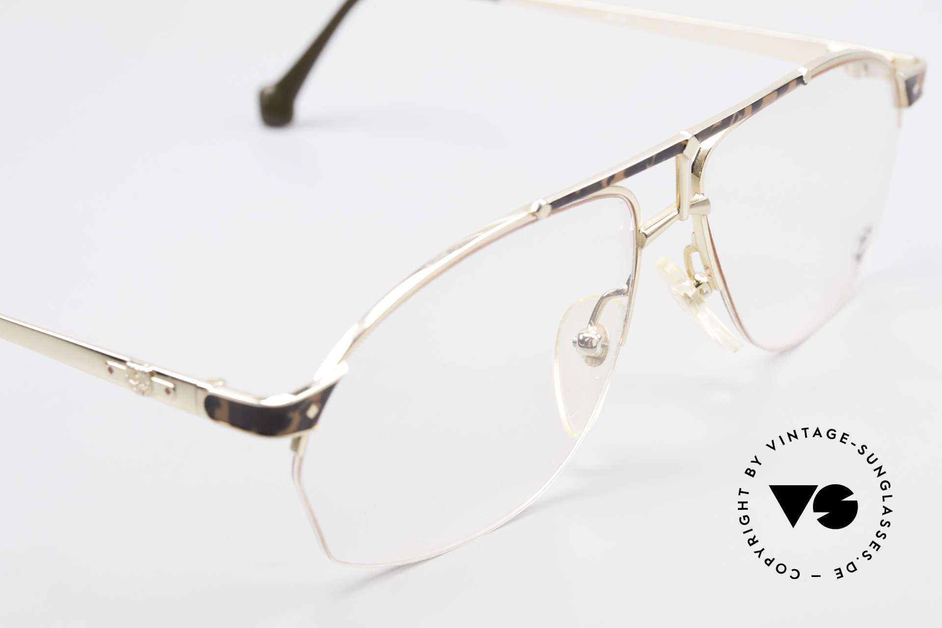 MCM München 10 Vergoldete Brille Wurzelholz, ungetragen (wie alle unsere alten MCM-Originale), Passend für Herren