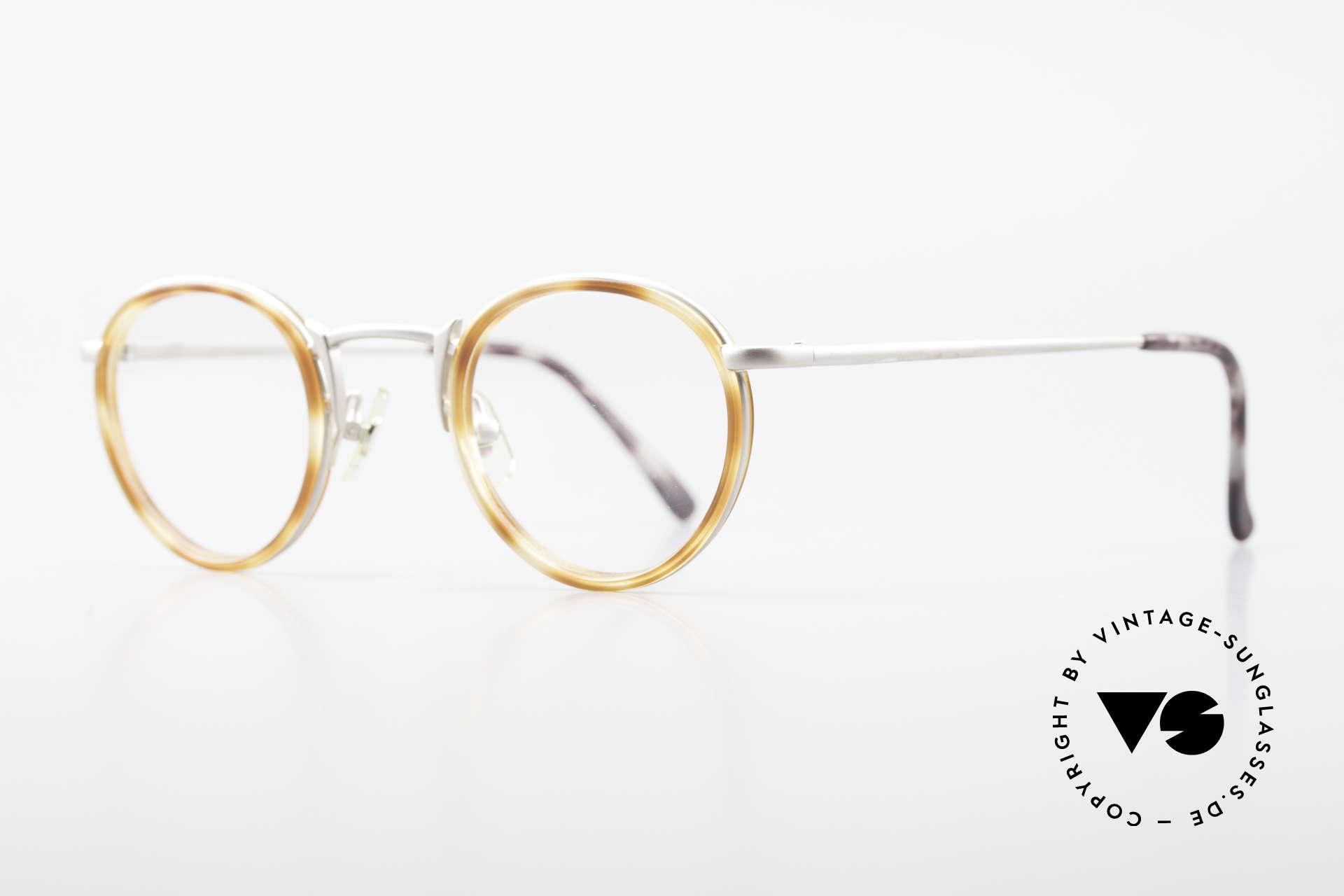 Freudenhaus Bido Runde 90er Designer Brille, zeitlos und raffiniert gleichermaßen (SMALL Größe), Passend für Herren und Damen