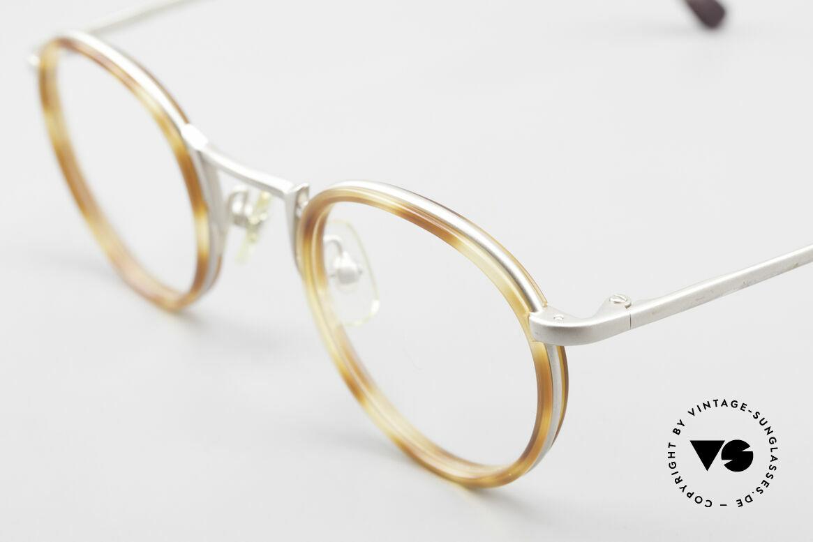 Freudenhaus Bido Runde 90er Designer Brille, ungetragen (wie alle unsere vintage Designerbrillen), Passend für Herren und Damen