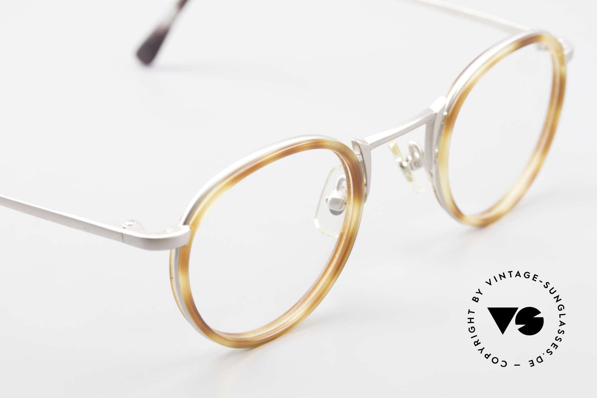 Freudenhaus Bido Runde 90er Designer Brille, KEINE Retromode, ein kostbares 90er Jahre Original!, Passend für Herren und Damen