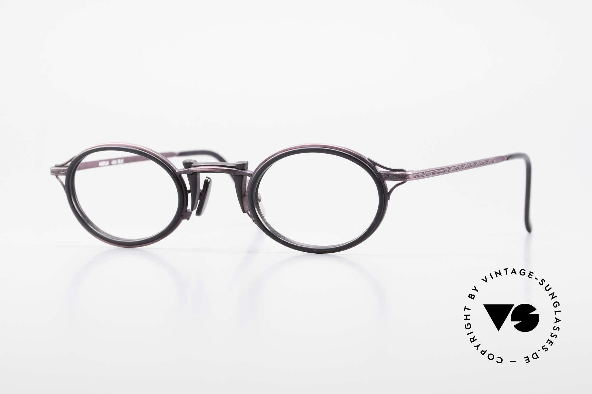Freudenhaus Andua Ovale 90er Designer Fassung, vintage Brillenfassung von FREUDENHAUS, München, Passend für Damen