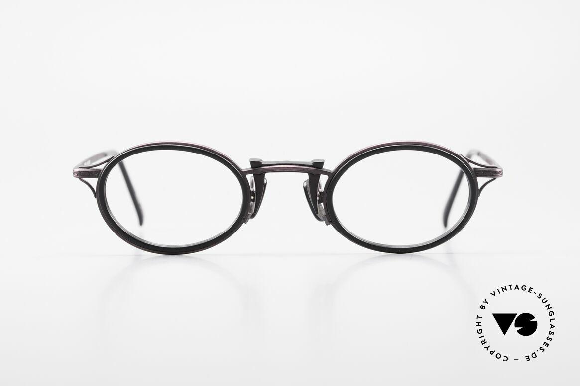 Freudenhaus Andua Ovale 90er Designer Fassung, exzellente Materialkombination (Kunststoff & Titan), Passend für Damen