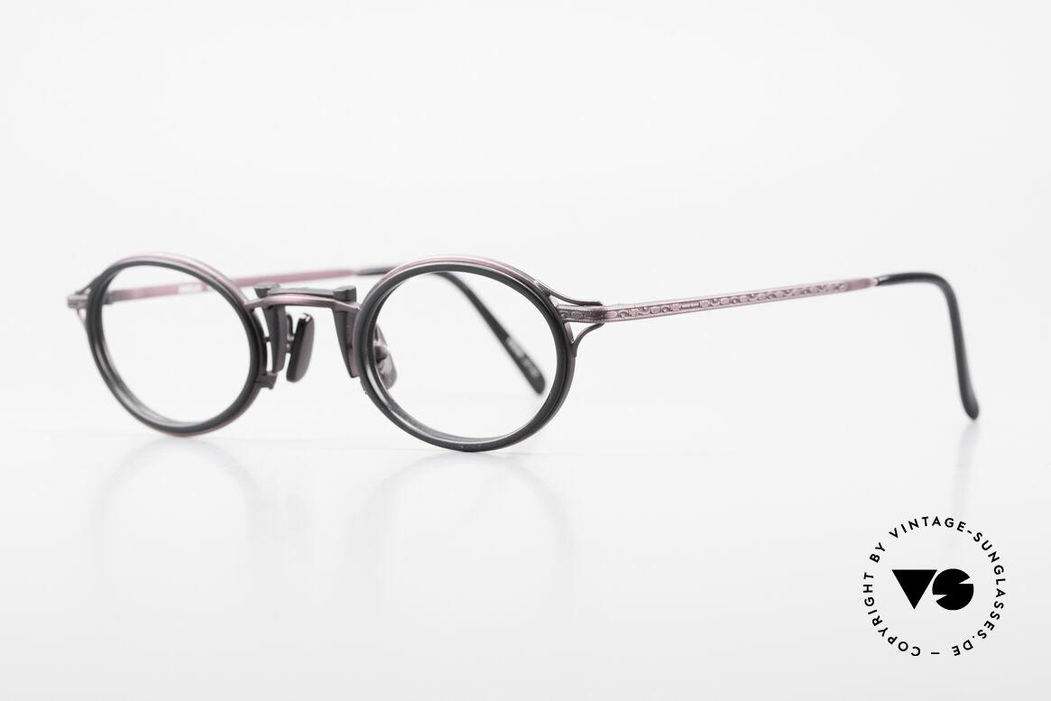 """Freudenhaus Andua Ovale 90er Designer Fassung, einzigartige Lackierung in """"antik-violett"""" u. schwarz, Passend für Damen"""